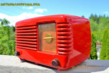 Load image into Gallery viewer, SOLD! - June 16, 2014 - LIPSTICK RED Vintage Deco Retro 1949 Philco Transitone 49-500 AM Bakelite Tube Radio Works! Wow! , Vintage Radio - Admiral, Retro Radio Farm  - 1