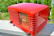 Load image into Gallery viewer, SOLD! - June 16, 2014 - LIPSTICK RED Vintage Deco Retro 1949 Philco Transitone 49-500 AM Bakelite Tube Radio Works! Wow! , Vintage Radio - Admiral, Retro Radio Farm  - 8