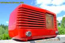 Load image into Gallery viewer, SOLD! - June 16, 2014 - LIPSTICK RED Vintage Deco Retro 1949 Philco Transitone 49-500 AM Bakelite Tube Radio Works! Wow! , Vintage Radio - Admiral, Retro Radio Farm  - 2