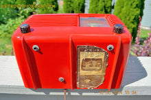 Load image into Gallery viewer, SOLD! - June 16, 2014 - LIPSTICK RED Vintage Deco Retro 1949 Philco Transitone 49-500 AM Bakelite Tube Radio Works! Wow! , Vintage Radio - Admiral, Retro Radio Farm  - 11