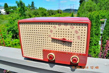 Load image into Gallery viewer, SOLD! - Oct 2, 2014 - BEAUTIFUL Retro Vintage Rare Mauve Pink 1950's Stewart Warner 9165-B AM Tube Radio WORKS! , Vintage Radio - Stewart Warner, Retro Radio Farm  - 1