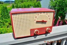 Load image into Gallery viewer, SOLD! - Oct 2, 2014 - BEAUTIFUL Retro Vintage Rare Mauve Pink 1950's Stewart Warner 9165-B AM Tube Radio WORKS! , Vintage Radio - Stewart Warner, Retro Radio Farm  - 8