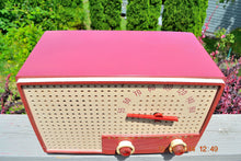 Load image into Gallery viewer, SOLD! - Oct 2, 2014 - BEAUTIFUL Retro Vintage Rare Mauve Pink 1950's Stewart Warner 9165-B AM Tube Radio WORKS! , Vintage Radio - Stewart Warner, Retro Radio Farm  - 6