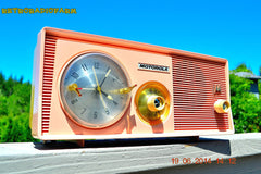 SOLD! - Dec 15, 2014 - SASSY PINK Retro Jetsons 1957 Motorola 5C14PW Tube AM Clock Radio WORKS! , Vintage Radio - Motorola, Retro Radio Farm  - 4
