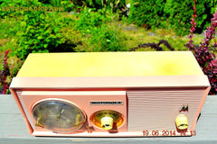 SOLD! - Dec 15, 2014 - SASSY PINK Retro Jetsons 1957 Motorola 5C14PW Tube AM Clock Radio WORKS! , Vintage Radio - Motorola, Retro Radio Farm  - 9