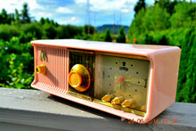 Load image into Gallery viewer, SOLD! - July 3, 2014 - PRETTY IN PINK Retro Jetsons 1957 Motorola 57CC Tube AM Clock Radio WORKS! - [product_type} - Motorola - Retro Radio Farm
