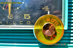 SOLD! - July 8, 2014 - AQUAMARINE Vintage Atomic Age 1959 Philco G755-124 Tube AM Radio Clock Alarm Works! , Vintage Radio - Philco, Retro Radio Farm  - 5