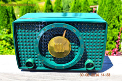 SOLD! - Sept 20, 2014 - SHERWOOD GREEN Retro Vintage 1950 Motorola 5H13 Tube AM Radio WORKS! , Vintage Radio - Motorola, Retro Radio Farm  - 5