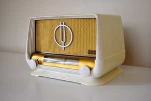 Made in France Mid Century Vintage 1951 Ducretet Thomson Model D3923 Vacuum Tube Radio Viva La France!