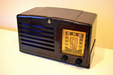 Bluetooth MP3 Ready - 1940 Emerson Model 333 AM Brown Bakelite Vacuum Tube Clock Radio Classic and Classy!