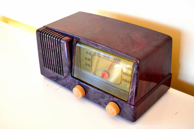 Purple Haze 1950 General Electric Model 400  Vacuum Tube Radio S'cuz Me While I Kiss The Sky!