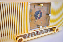 Load image into Gallery viewer, Bluetooth Ready To Go - Vanilla Ivory 1953 General Electric Model 547 AM Clock Radio Charm and Class Beautiful Sounding!
