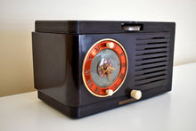 Load image into Gallery viewer, 1952 General Electric Model 60 AM Brown Bakelite Tube Clock Radio Totally Restored Lookin Sharp!