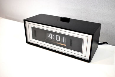 New Old Stock (NOS) - Glossy Black General Electric Flip Clock Model 8142-421 Chronotel - Did We Mention New Old Stock?