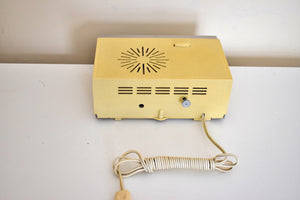Boat Anchor 1966 General Electric Model C551D Solid State AM Clock Radio Works Great Rugged Construction!
