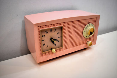 Chiffon Pink Vintage 1959 General Electric Model C-435A Vacuum Tube Radio Lovely Lady!