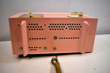 Load image into Gallery viewer, Chiffon Pink Vintage 1959 General Electric Model C-435A Vacuum Tube Radio Lovely Lady!