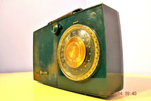 Load image into Gallery viewer, SOLD! - April 24, 2014 - FOREST GREEN Retro Space Age 1950's General Electric 620 Tube AM Radio RARE! - [product_type} - General Electric - Retro Radio Farm