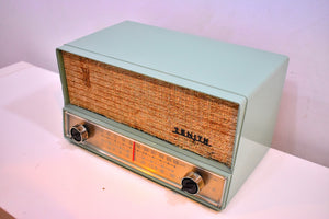 Mint Green Mid Century 1959 Zenith S-41876 AM/FM Vacuum Tube Radio Sounds Great!