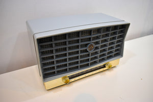 Slate Blue and Gray Vintage 1953 RCA Victor 6-XD-5 Tube Radio Sounds and Looks Great! Rare Color Combo!