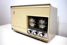 Load image into Gallery viewer, Dove Gray and White 1961 Westinghouse Model H-761N7B AM/FM Vacuum Tube Radio Beauty and Tone Blaster!
