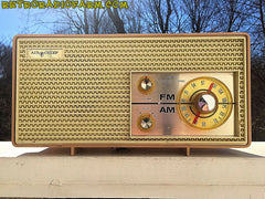 SOLD! - Apr 16, 2016 - BLUETOOTH MP3 Ready - AM FM Mauve Pink Retro Mid Century Jetsons Vintage 1962 Firestone Air Chief  Tube Radio Rare! , Vintage Radio - Firestone, Retro Radio Farm  - 3