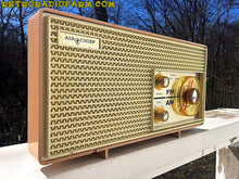 Load image into Gallery viewer, SOLD! - Apr 16, 2016 - BLUETOOTH MP3 Ready - AM FM Mauve Pink Retro Mid Century Jetsons Vintage 1962 Firestone Air Chief  Tube Radio Rare! - [product_type} - Firestone - Retro Radio Farm