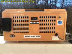 SOLD! - Apr 16, 2016 - BLUETOOTH MP3 Ready - AM FM Mauve Pink Retro Mid Century Jetsons Vintage 1962 Firestone Air Chief  Tube Radio Rare! , Vintage Radio - Firestone, Retro Radio Farm  - 9