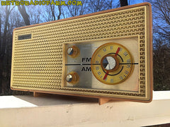 SOLD! - Apr 16, 2016 - BLUETOOTH MP3 Ready - AM FM Mauve Pink Retro Mid Century Jetsons Vintage 1962 Firestone Air Chief  Tube Radio Rare! , Vintage Radio - Firestone, Retro Radio Farm  - 4