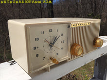Load image into Gallery viewer, BLUETOOTH MP3 READY - Sophisticated Ivory Beige Retro Jetsons 1959 Motorola Model 5C12W Tube AM Clock Radio Totally Restored! , Vintage Radio - Motorola, Retro Radio Farm  - 3