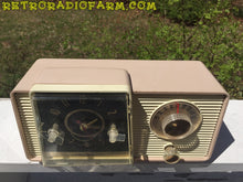 Load image into Gallery viewer, SOLD! - Dec 2, 2016 - BLUETOOTH MP3 READY - Taupe and Ivory 1959 General Electric Model C-405 Tube AM Clock Radio - [product_type} - General Electric - Retro Radio Farm