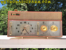 Load image into Gallery viewer, SOLD! - Mar 8, 2017 - RARE BEYOND RARE Rose Pink Retro Jetsons Vintage 1961 Arvin Model 51R56 AM Tube Clock Radio Amazing! - [product_type} - Arvin - Retro Radio Farm