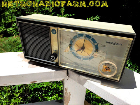 SOLD! - Feb 18, 2017 - Mid Century MADNESS Glow Light Westinghouse Model H931L5 AM Tube Radio Alarm Clock Totally Restored!
