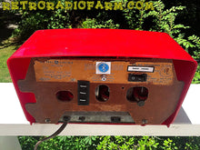 Load image into Gallery viewer, SOLD! - June 16, 2016 - BLUETOOTH MP3 READY - Cherry Red Mid Century Jetsons 1951 General Electric Model 517F Tube AM Clock Radio Totally Restored! - [product_type} - General Electric - Retro Radio Farm