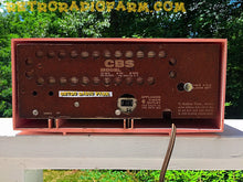 Load image into Gallery viewer, SOLD! - Nov 17, 2016 - VALENTINE'S DAY- Red and Pink Retro Jetsons 1961 CBS C230 Tube AM Clock Radio Mint Condition! - [product_type} - CBS - Retro Radio Farm