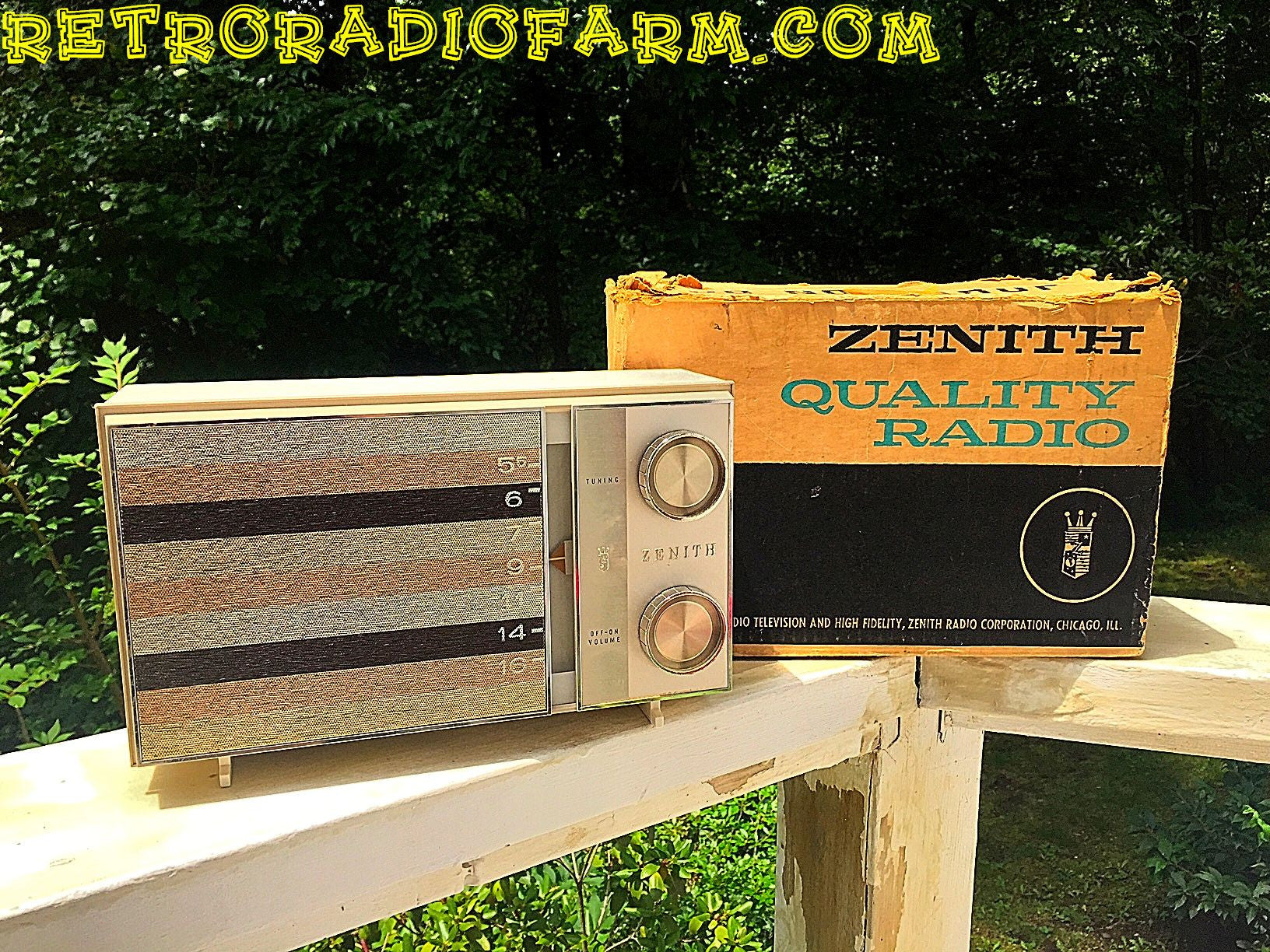 SOLD! - Sept 24, 2016 - BLUETOOTH MP3 READY -  Ultra Contemporary Looking 1965 Zenith Model M512W AM Tube Radio with Original Box! - [product_type} - Zenith - Retro Radio Farm