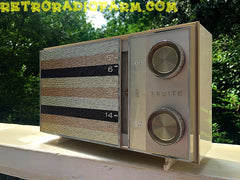 SOLD! - Sept 24, 2016 - BLUETOOTH MP3 READY -  Ultra Contemporary Looking 1965 Zenith Model M512W AM Tube Radio with Original Box!