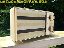 Load image into Gallery viewer, SOLD! - Sept 24, 2016 - BLUETOOTH MP3 READY -  Ultra Contemporary Looking 1965 Zenith Model M512W AM Tube Radio with Original Box! - [product_type} - Zenith - Retro Radio Farm