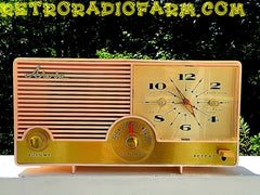 SOLD! - Nov 28, 2016 - BLUETOOTH MP3 Ready - Fabulous Pink Mid Century Jetsons Vintage 1960 Arvin Model 5583 Tube Radio Amazing!