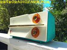 Load image into Gallery viewer, SOLD! - Dec 17, 2016 - AZURITE Blue Mid Century Jet Age Retro 1959 Olympic Model 557 Tube AM Radio Totally Awesome!! - [product_type} - Olympic - Retro Radio Farm
