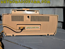Load image into Gallery viewer, SOLD! - Nov 23, 2016 - BEIGE PINK Mid Century Jetsons 1959 General Electric Model C-4340 Tube AM Clock Radio Totally Restored!