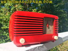 Load image into Gallery viewer, SOLD! - May 25, 2016 - LIPSTICK RED Vintage Deco Retro 1947 Philco Transitone 48-200 AM Bakelite Tube Radio Works! - [product_type} - Philco - Retro Radio Farm