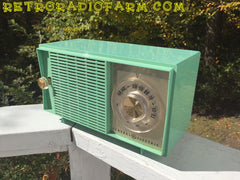 SOLD! - Nov 9, 2016 - BLUETOOTH MP3 READY - SEA GREEN 1959 General Electric Model T-129C Tube Radio