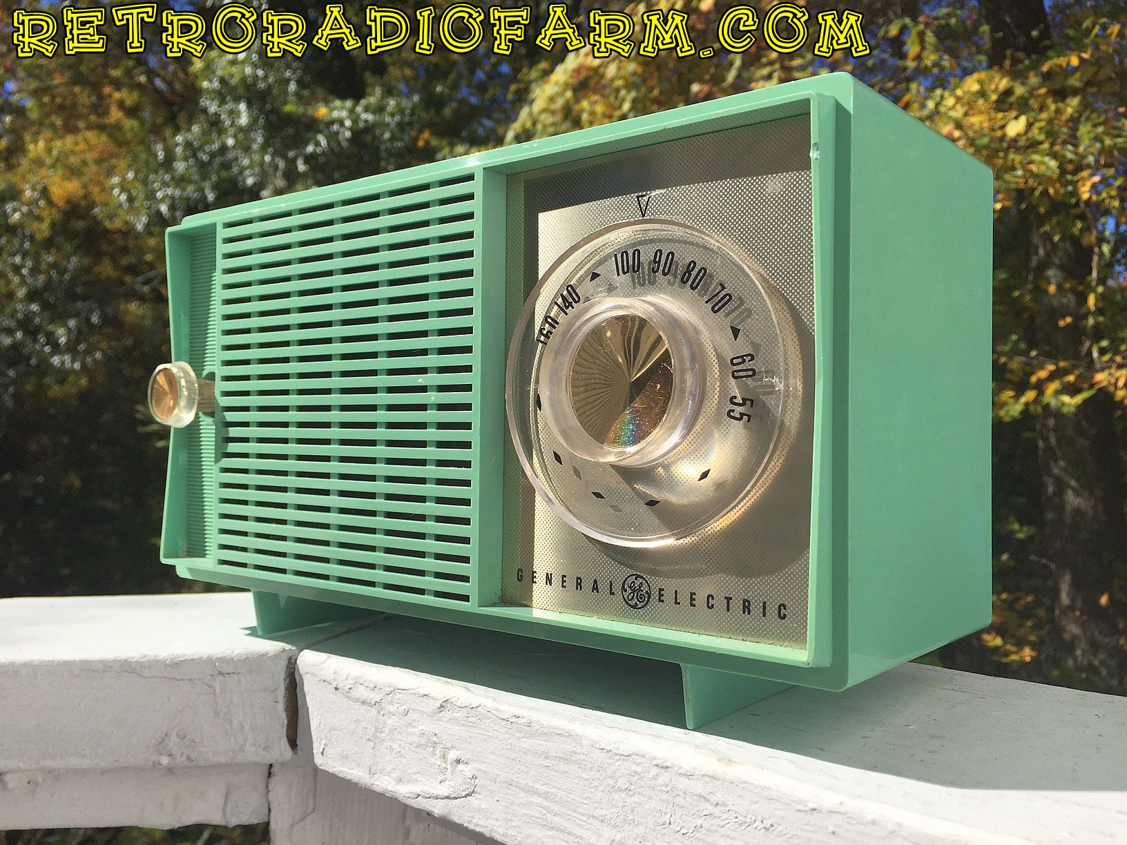 SOLD! - Nov 9, 2016 - BLUETOOTH MP3 READY - SEA GREEN 1959 General Electric Model T-129C Tube Radio - [product_type} - General Electric - Retro Radio Farm