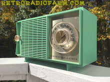 Load image into Gallery viewer, SOLD! - Nov 9, 2016 - BLUETOOTH MP3 READY - SEA GREEN 1959 General Electric Model T-129C Tube Radio - [product_type} - General Electric - Retro Radio Farm