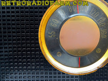 Load image into Gallery viewer, SOLD! - Nov 5, 2016 - SHINY BLACK Retro Jetsons Vintage 1956 RCA Victor Model 6-X-7 AM Tube Radio Great Sounding! - [product_type} - RCA Victor - Retro Radio Farm