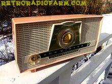 Load image into Gallery viewer, SOLD! - Jan 18, 2017 - PINK AND WHITE Atomic Age Vintage 1959 RCA Victor Model X-4HE Tube AM Radio Amazing! - [product_type} - RCA Victor - Retro Radio Farm