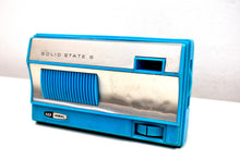 Load image into Gallery viewer, 1965 Sky Blue Vintage Portable Pocket ID IDEAL Solid State AM 6 Transistor Radio Needless to Say Rare!