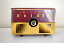 Load image into Gallery viewer, Crimson Red 1951 Motorola Model 52H Vacuum Tube AM Radio High Quality Construction Great Performer!
