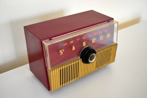 Crimson Red 1951 Motorola Model 52H Vacuum Tube AM Radio High Quality Construction Great Performer!